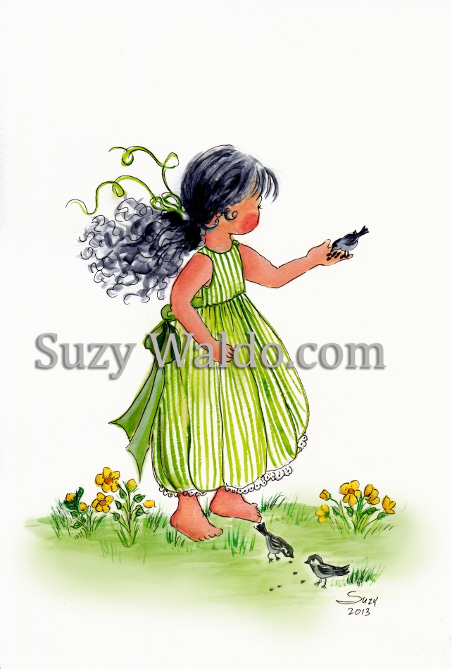 Green Dress Watermark