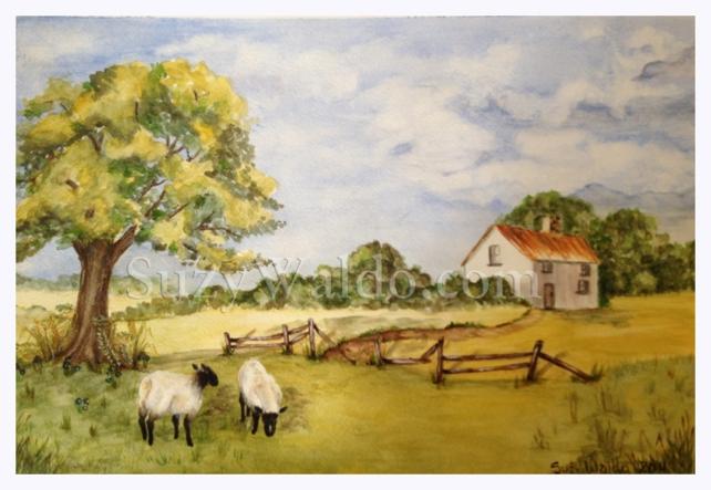 Tranquil Farm Scene